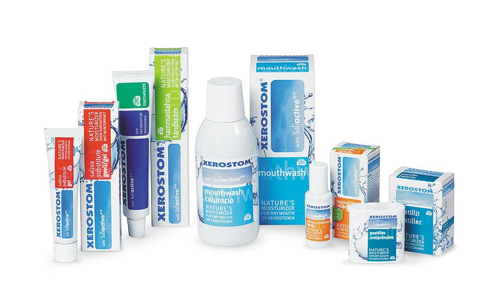 Xerostom kuivan suun tuotteet